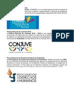 Instituciones de Guatemala