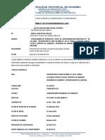 1. INFORME N° 001 PAGO SUPER-VALORIZ. N° 01-LECHERAL-PUENTE CUZCUZ
