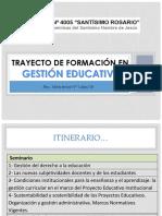 Presentación Trayecto Gestión Educativa