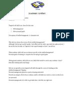 academic artifact form 2