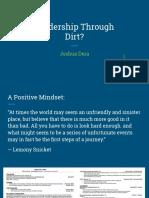 leadership through dirt