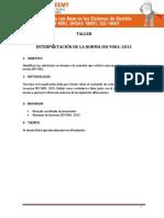 Taller - Interpretación de la norma iso 9001 2015.docx