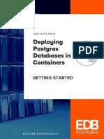 deploying Postgres