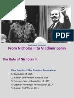 Nick II and Lenin PPT