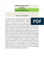 Ivanto Saputra - Character of Education