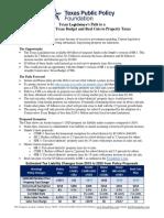 Property Tax Relief Scenarios Comparison