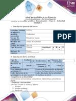 Guía de Actividades y Rúbrica de Evaluación – Paso 6 – Actividad Colaborativa Unidad 3