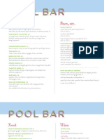 East Austin Hotel's Pool Bar Menu