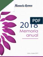 Memoria 2018 del Movimiento Manuela Ramos