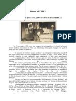 Pierre Michel, « Pourquoi je quitte la Société Mirbeau »