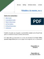 ▷ [RESUMEN] Véndele a la mente, no a la gente _ investinternet.es