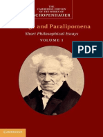 (the Cambridge Edition of the Works of Schopenhauer) Arthur Schopenhauer - Parerga and Paralipomena Vol.1. 1-Cambridge University Press (2014)