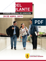 GUIA DE POSTULANTE  EXAMEN GENERAL DE ADMISIÓN 2020