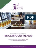 Fingerfood Menus