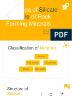 Brief Idea of Silicate Structure of Rock Forming Minerals Ppt - Copy