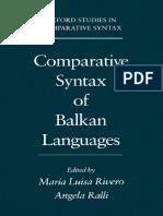 Comparative Syntax of the Balkan Languages - María Luisa Rivero & Angela Ralli