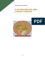 Ejemplo de Manual de Procesos - Restaurante