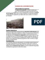 Consecuencia de La Deforestacion