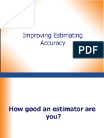 1) Improving Estimating Accuracy