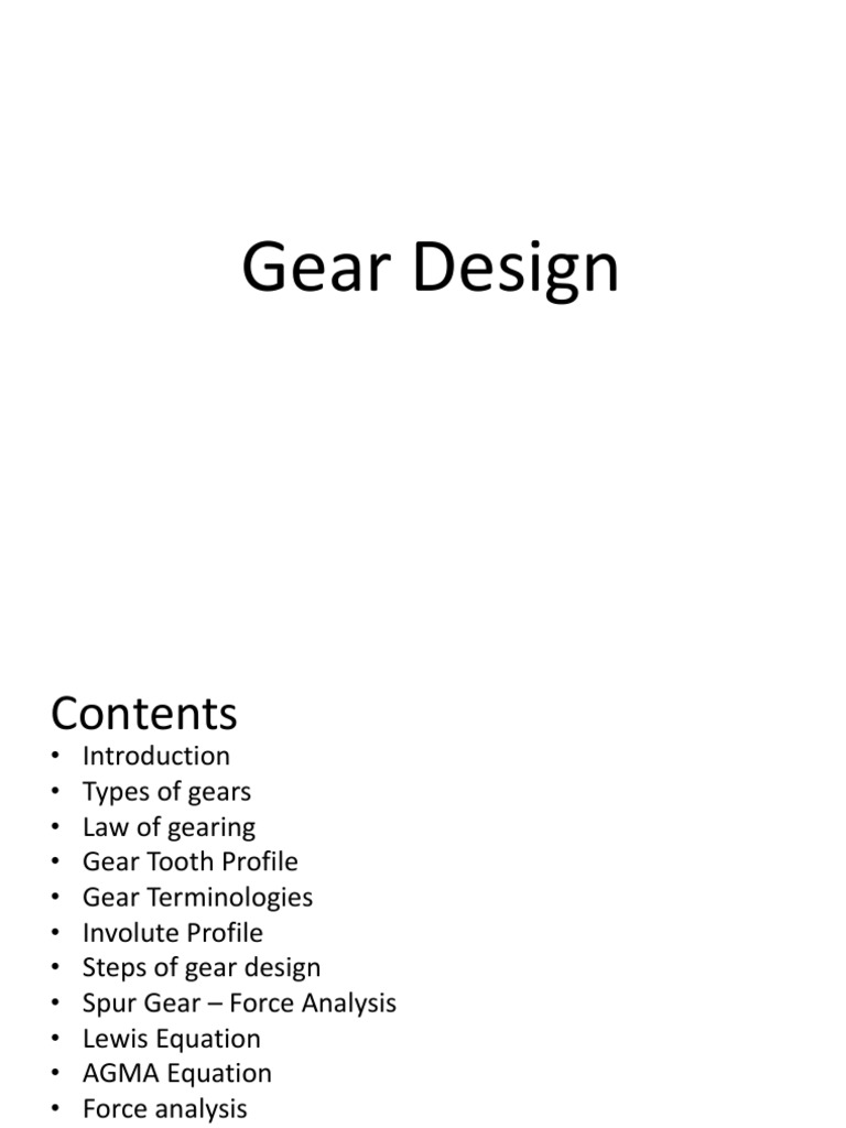 Gears Design MD2 Gear