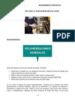 Procedimiento de Maquinaria -Muestreo de Aceites y Lubricantes