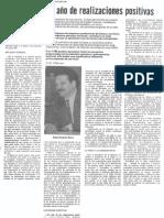 Edgard Romero Nava - 1987 ha sido un año de realizaciones positivas - 1988