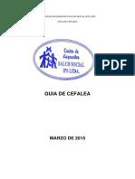 Guia de Manejo Cefalea 2015