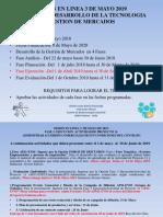 Sesion en Linea 3 de Mayo 2019 -Gestion de Mercados