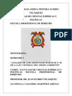 """""""ANÁLISIS DE LOS ARTÍCULOS 41-42-43-44 Y 45 DE LA LEY GENERAL DEL MEDIO AMBIENTE"""".docx"""
