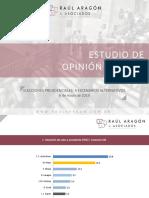Raúl Aragón Asoc. Elecciones Presidenciales 4 Escenarios