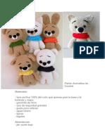 Patrón Animalitos de Crochet