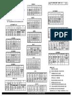 Calendario UNAM 2019-2020