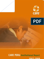 Memoria Institucional CARE Perú 2007-2008 (Inglés)