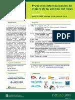 """Jornada técnica """"Proyectos internacionales de mejora de la gestión del riego"""""""