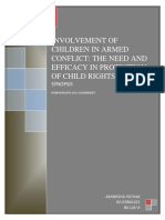 Involvement of Children in Armed Conflict