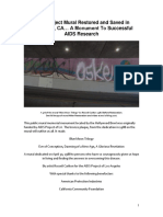 AIDS Project Mural Restored and Saved in Hollywood, CA… A Monument To Successful AIDS Research