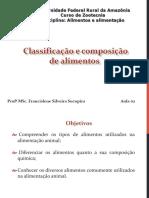 Aula 2 - Classificação e Composição Dos Alimentos