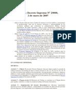 Decreto Supremo Nº 29000