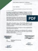 Carta Notarial de comerciantes tiburoneros