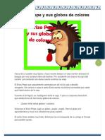El Erizo Pepe y Sus Globos de Colores
