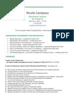 nicole campeau resume 2019