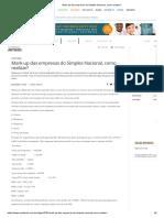 Mark-up Das Empresas Do Simples Nacional, Como Realizar