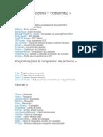 Aplicaciones de Oficina y Productividad