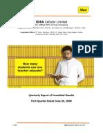 Quarterly Report q1 08