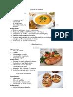 10 Recetas de Cocina
