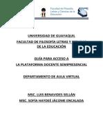 Guía Para Acceso a La Plataforma Docente