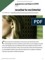 Aprende a Escuchar Tu Voz Interior _ Irradia Terapia CDMX