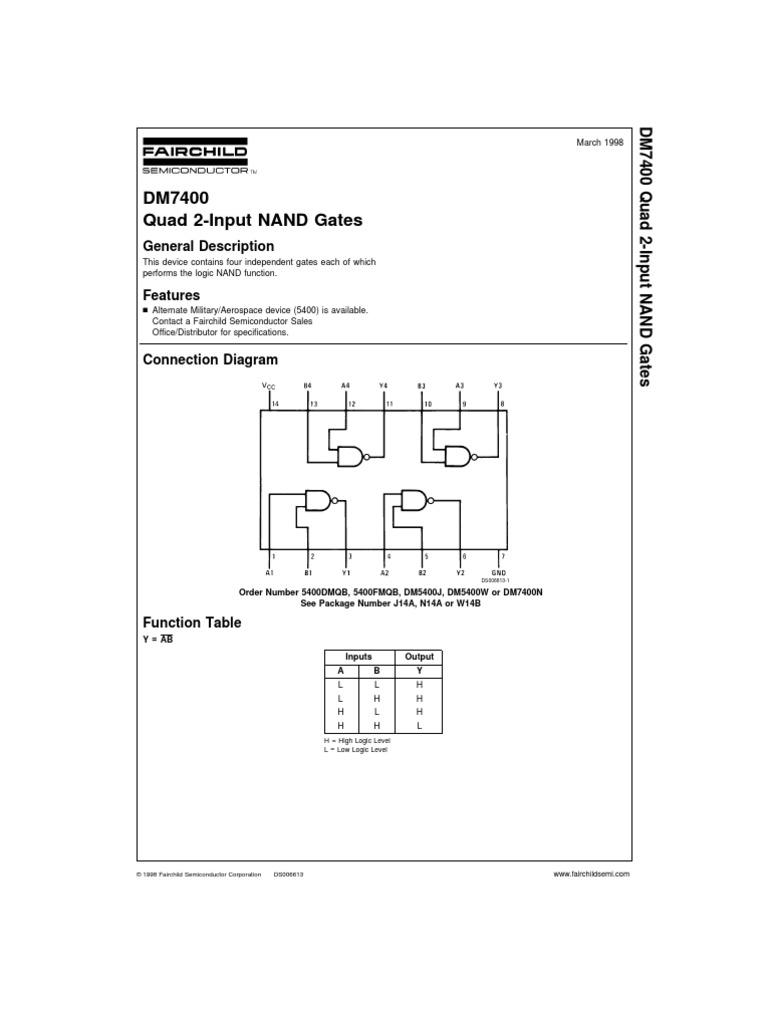 Dm7400 Flash Memory Electric Current Logic Diagram Nand