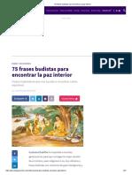 75 Frases Budistas Para Encontrar La Paz Interior