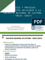 PROBABILIDAD Y ESTADISTICA FUNDAMENTAL ENTREGA ENLEC 2017